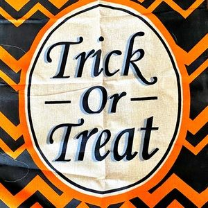 New Large Trick or Treat burlap outdoor Flag